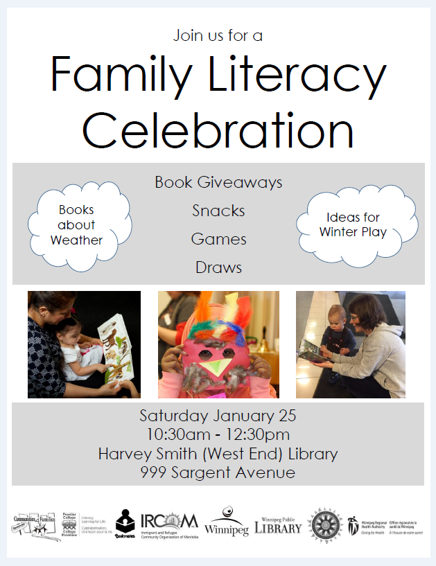 Family Literacy Day event @ Cindy Klassen Recreation Complex